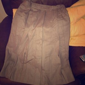 Plain brown skirt with texture